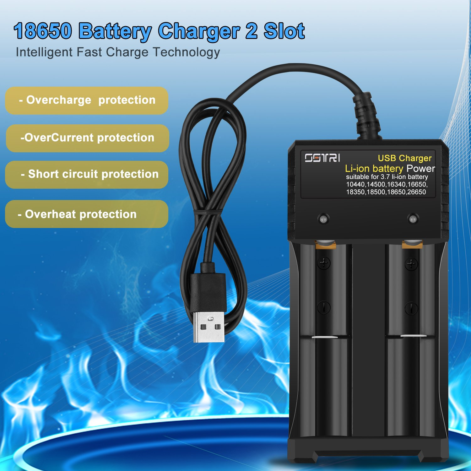 Ostri Li Ion Battery Charger 18650smart Universal 37v Simple Nicd Electronic Circuits Lithium Rechargeable For Aa Aaa 26650 18650 18500 18350 17670 16340