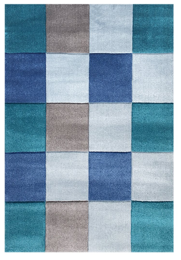 Livone Kinderteppich Happy Rugs Checker blau türkis 160x230 cm