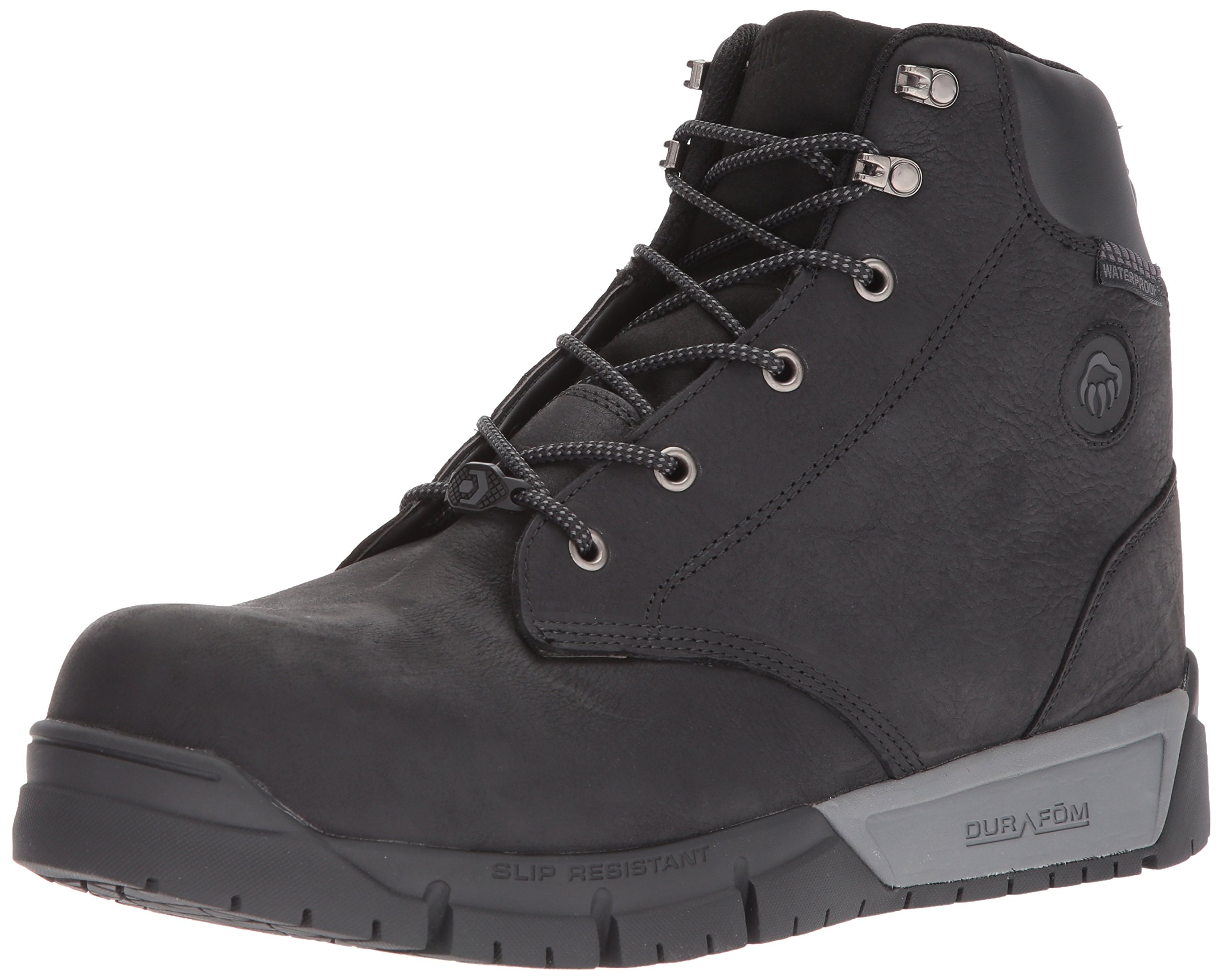 Wolverine Men's Mauler LX Composite Toe Waterproof Work Boot Black 7 W US by Wolverine (Image #1)