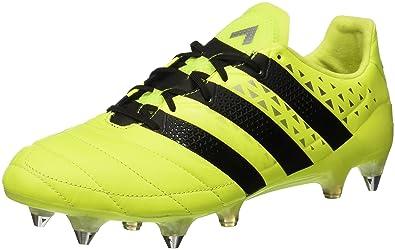 new style 7f6ef 5a919 adidas Herren Ace 16.1 Sg Leather Fußballschuhe, Gelb (Solar YellowCore  Black