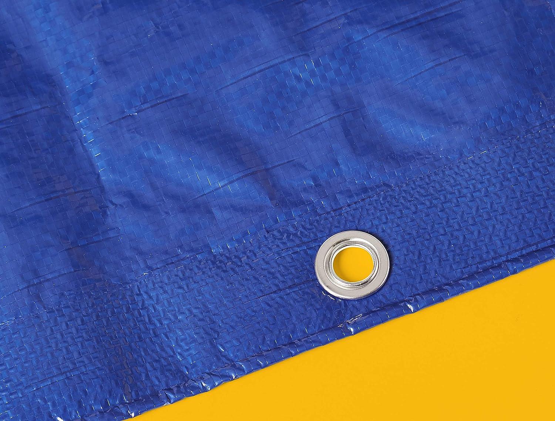 0,127/mm de espesor Commercial pack de 1/unidad 9/x/12/m Lona impermeable de poli/éster multiusos azul
