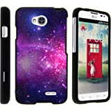 LG Optimus L70 Case, LG Ultimate 2 Case, Stylish Snug Fitted Hard Protector Cover Snap On Case with Customized Design for LG Optimus L70 MS323, LG Optimus Exceed 2 VS450PP, LG Realm LS620, LG Ultimate 2 L41C (Metro PCS, Verizon, Boost Mobile) from MINITURTLE   Includes Clear Screen Protector and Stylus Pen - Heavenly Stars
