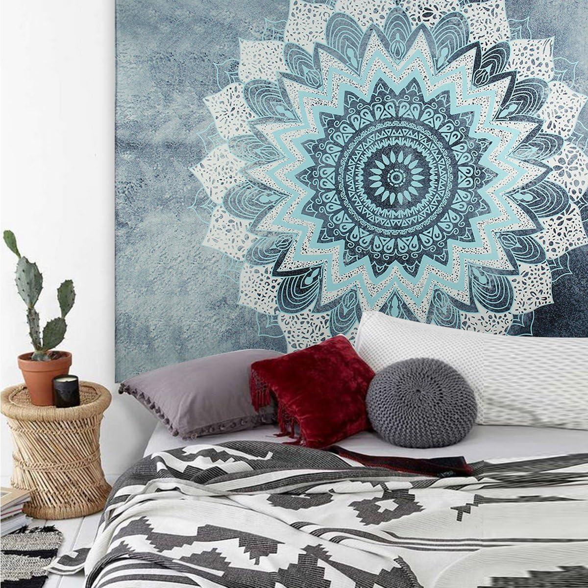 Haokaini Indien Mandala Tapisserie Tenture Murale Hippie Boh/ème Twin Couvre-Lit D/écor /à La Maison