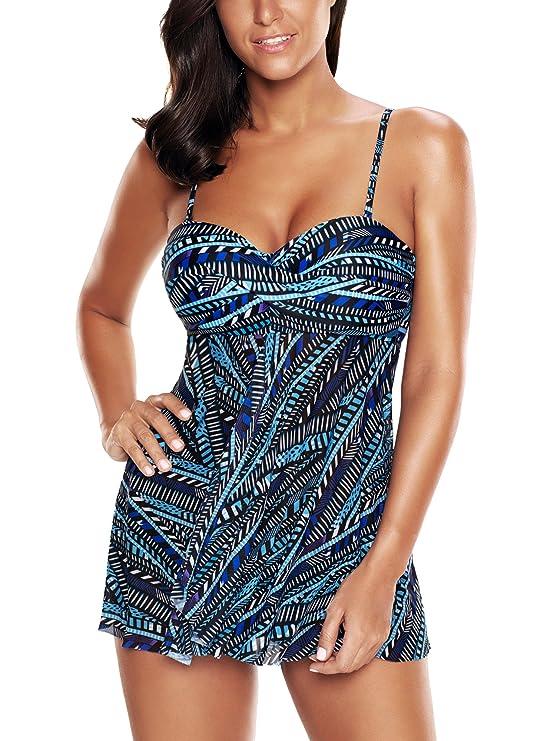 bbcebbef3f FLYILY Costumi Da Bagno Donne Tankini Bikini Moda Due Pezzi Costume:  Amazon.it: Abbigliamento