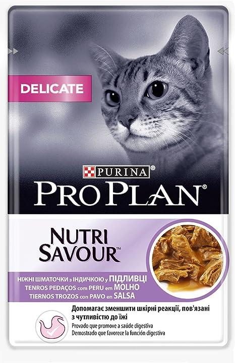 Purina ProPlan Delicate en Salsa Comida para Gato Adulto Pavo 24 x ...