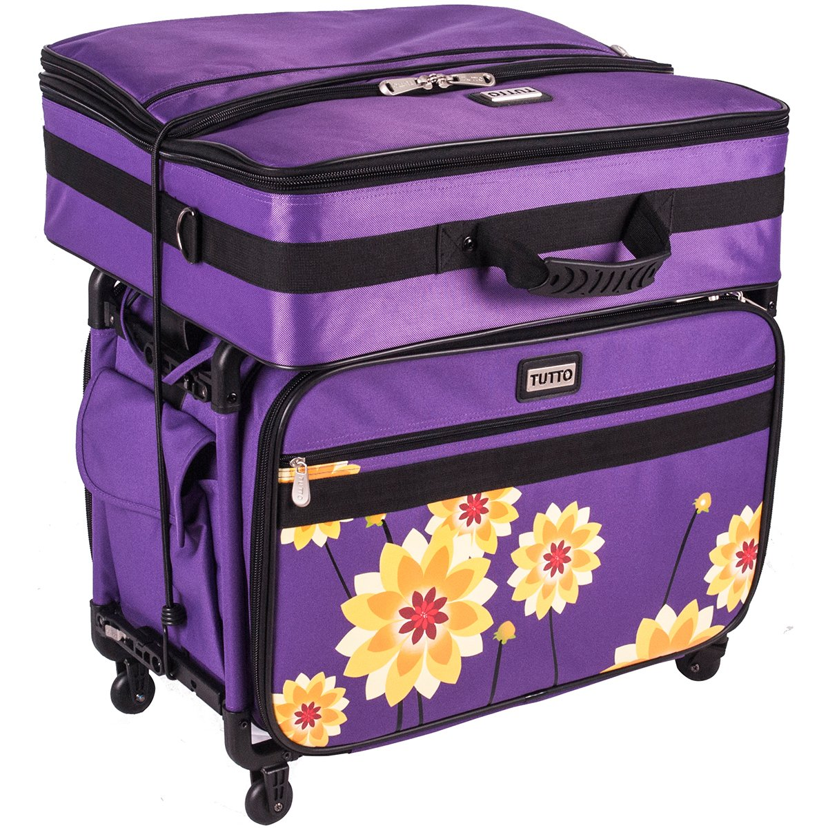 Tutto Purple Dahlia Large Machine case by Tutto