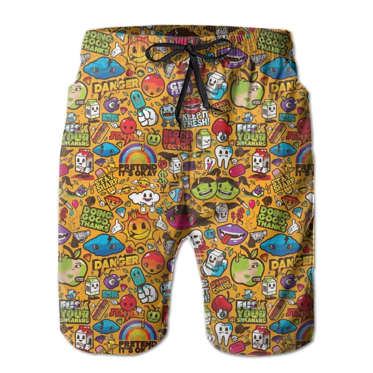 MOBEITI Comfort Mens Big /&Tall Swim Trunks Board Shorts for Beach Gym Workout,