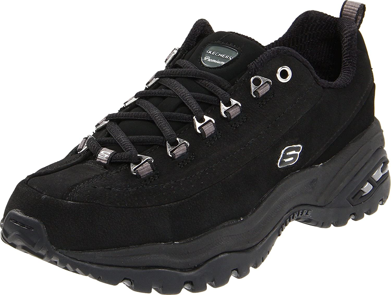 Skechers Sport Women's Premium Sneaker B0007TLQR0 9 B(M) US Black Nubuck