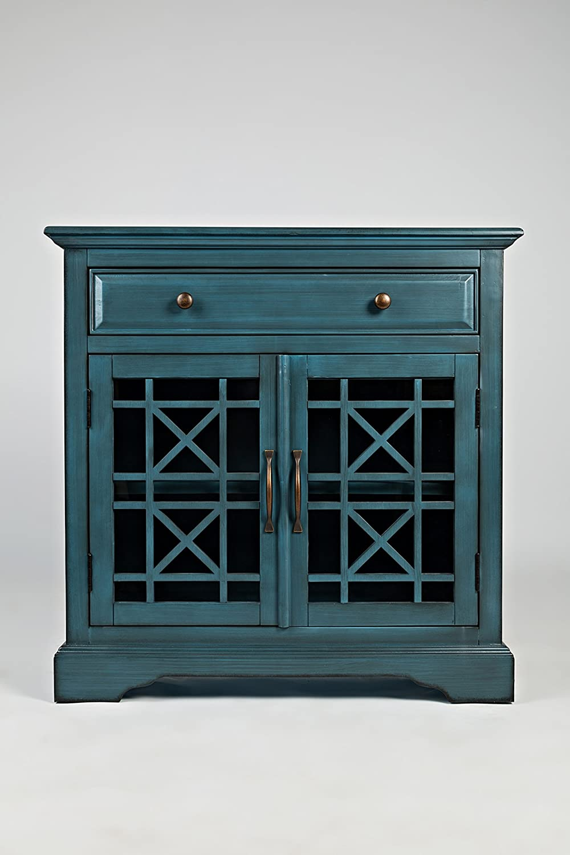 "Jofran: 175-32, Craftsman, Accent Chest, 32""W X 15""D X 32""H, Antique Blue Finish, (Set of 1)"