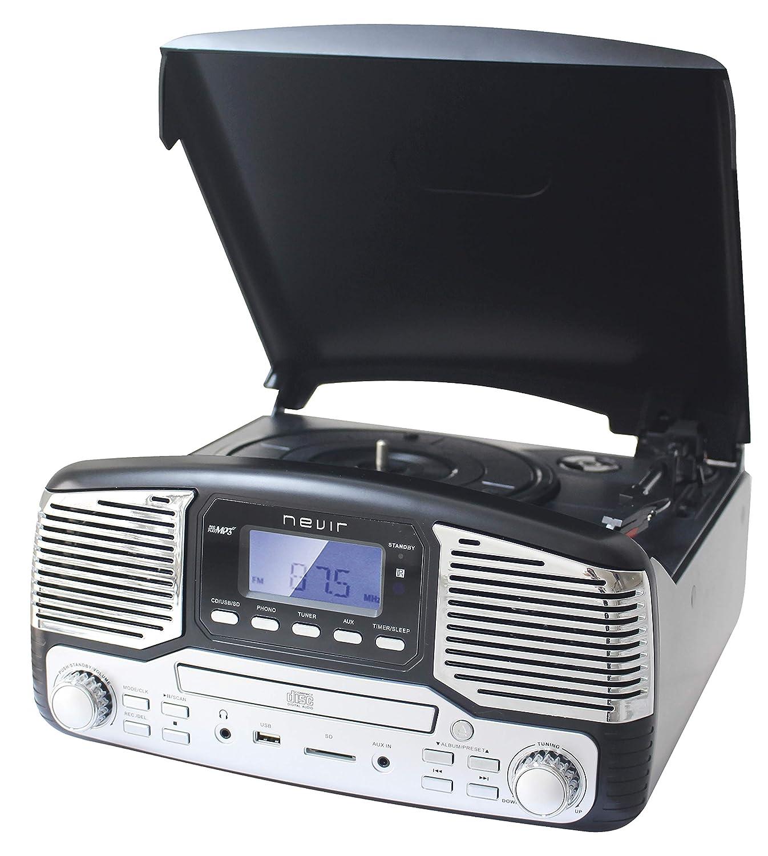 Nevir NVR-812 VCDMUC Tocadiscos Retro Black