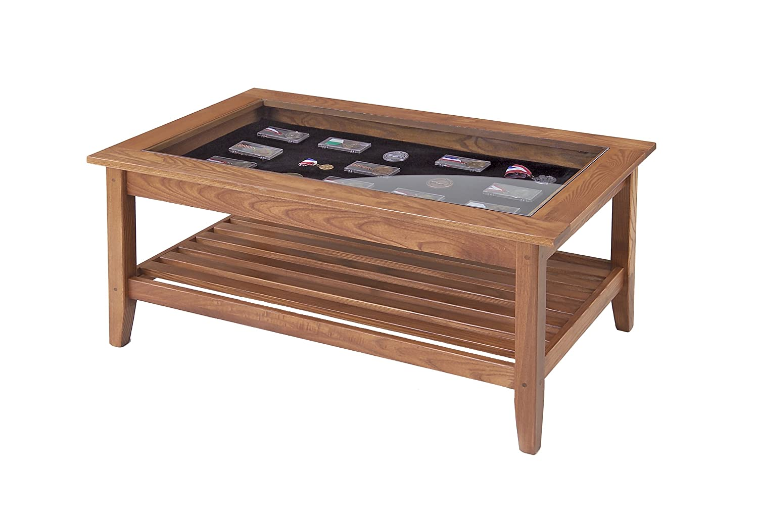 Manchester Wood American Made Furniture Glass Top Display