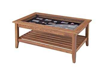 Beautiful Amazon.com: Manchester Wood Glass Top Display Coffee Table   Golden Oak:  Kitchen U0026 Dining