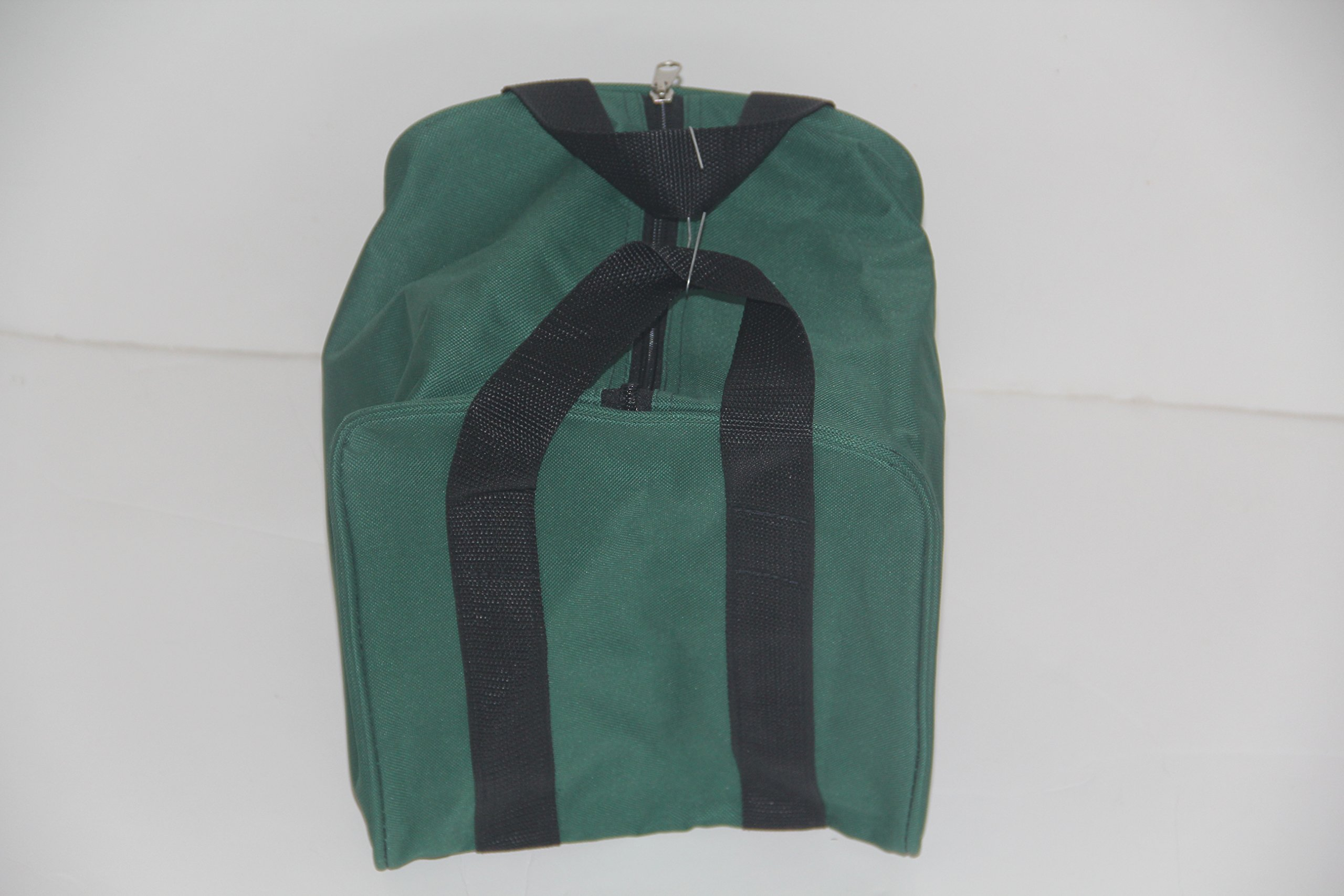Premium Quality - Extra Heavy Duty Nylon Bocce Bag - Green with Black Handles by Epco