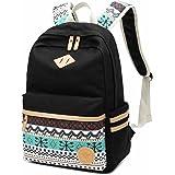 CHEREEKI Zaino Casual Canvas Daypack Borsa a tracolla Borsa del portatile per adolescenti femmine Ragazzi