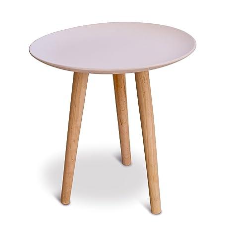 Tavolino Tre Piedi.Mika Tavolino In Legno A Tre Gambe Amazon It Casa E Cucina
