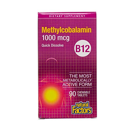 Natural Factors, Vitamina B12 Methylcobalamin - 1000mcg x90tabs