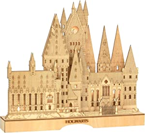 Department 56 Flourish Harry Potter Hogwart's Castle Lit Centerpiece Figurine, 12.6 Inch, Brown
