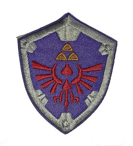 La Leyenda de Zelda con el escudo del Shield gamuza de bordado. Pasa ...
