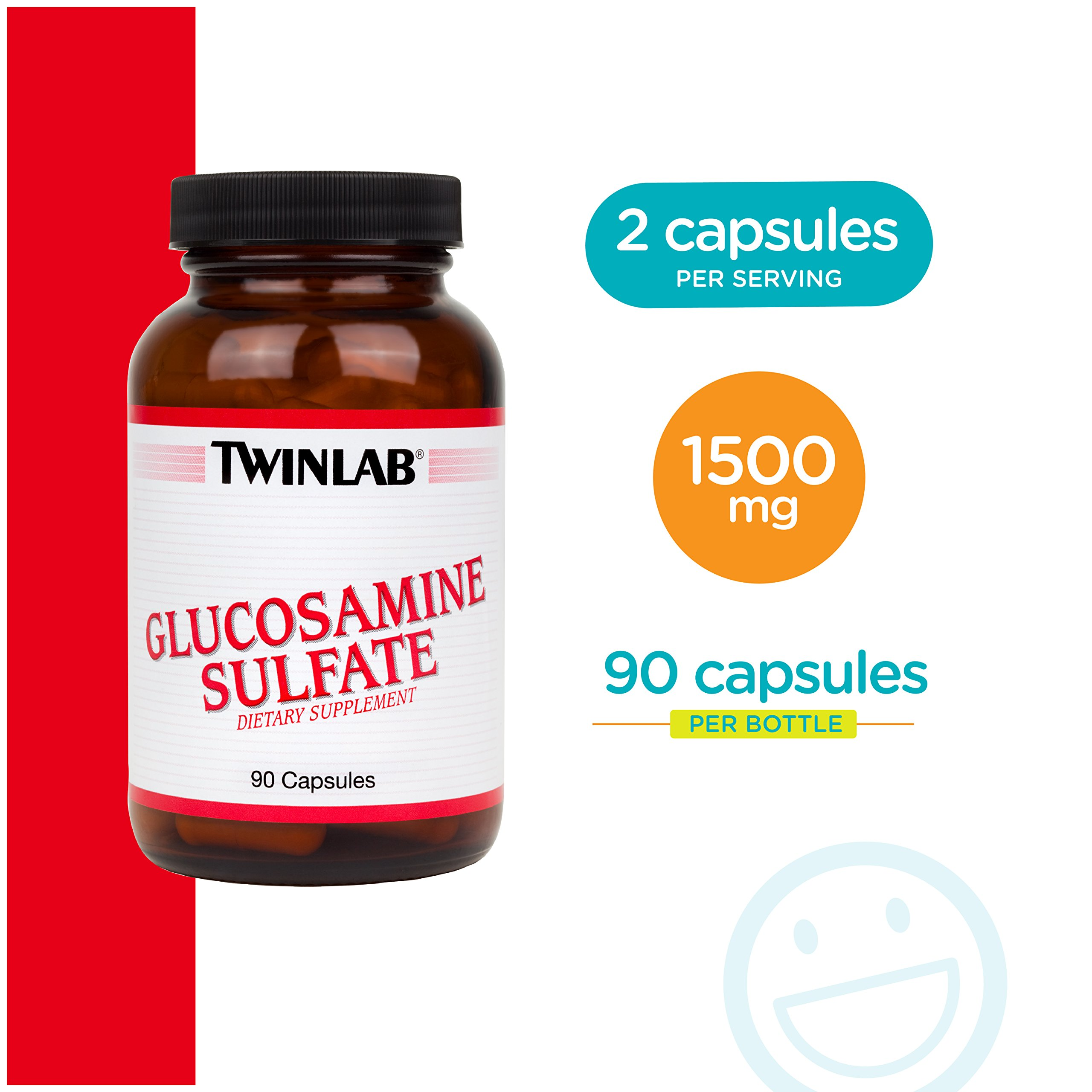 Twinlab Glucosamine Sulfate 1500 mg, 90 Capsules by Twinlab (Image #5)