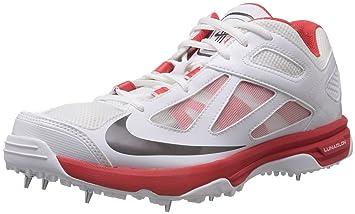 more photos b3173 eab34 Nike 2015 Lunar Dominate Cricket Shoes (White Red UK 8)