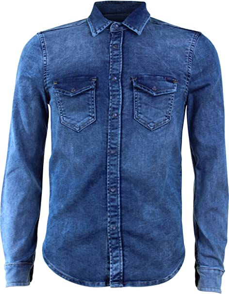 Pepe Jeans Camisa Jepson XXL Azul: Amazon.es: Ropa y accesorios