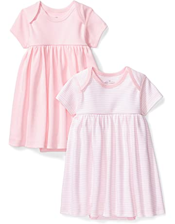 68982c95d7 Moon and Back Baby Girls  Set of 2 Organic Short-Sleeve Dresses