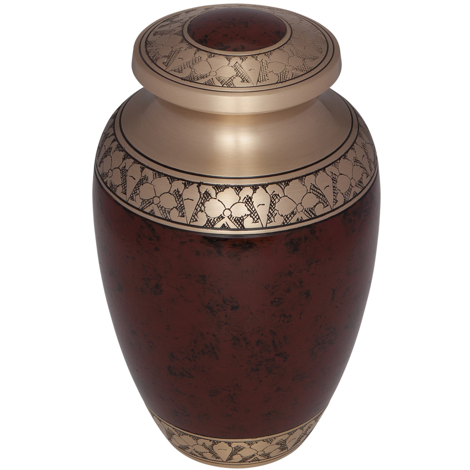 Brown Funeral Urn by Liliane Memorials - Cremation Urn for Human Ashes - Hand Made in Brass -Suitable for Cemetery Burial or Niche - Large Size fits remains of Adults up to 200 lbs- Tranquility Brown by Liliane Memorials (Image #3)