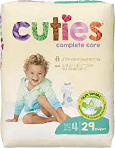 Cuties Complete Care Baby Diapers - Size 4 (29 Count)