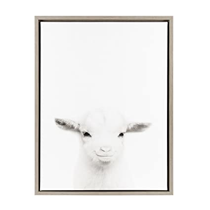 Amazon.com: Kate and Laurel Sylvie Baby Goat Black and White ...