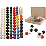 Molecular Model Kit for Organic & Inorganic Chemistry - 86 Atoms & 153 Bonds (239 Total Pieces) by University Chemistry Co.