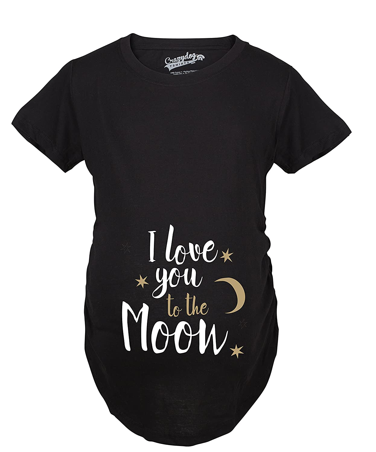56d3832a360c8 Maternity I Love You to The Moon Cute Maternity Shirts Announce Pregnancy  Shirt Fun at Amazon Women's Clothing store: