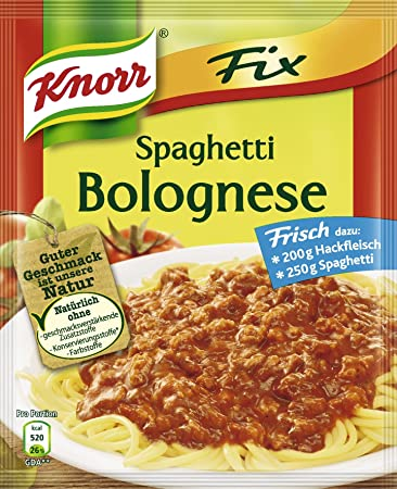 Amazon.com : Knorr Fix Spaghetti Bolognese : Spices And Seasonings ... | {Knorr fix 56}