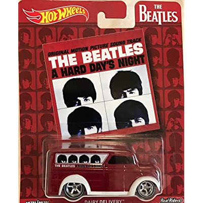 Hot Wheels Pop Culture The Beatles A Hard Day's Night, Dairy Delivery, Premium Adult Collectible Diecast Car: Toys & Games