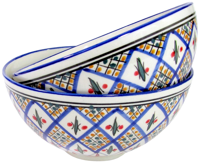 Le Souk Ceramique Stoneware Deep Serve Bowl, Medium, Multicolor TK31