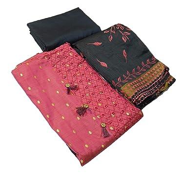 Ishagr Embriodered Cotton Suit Salwar Dupatta Material