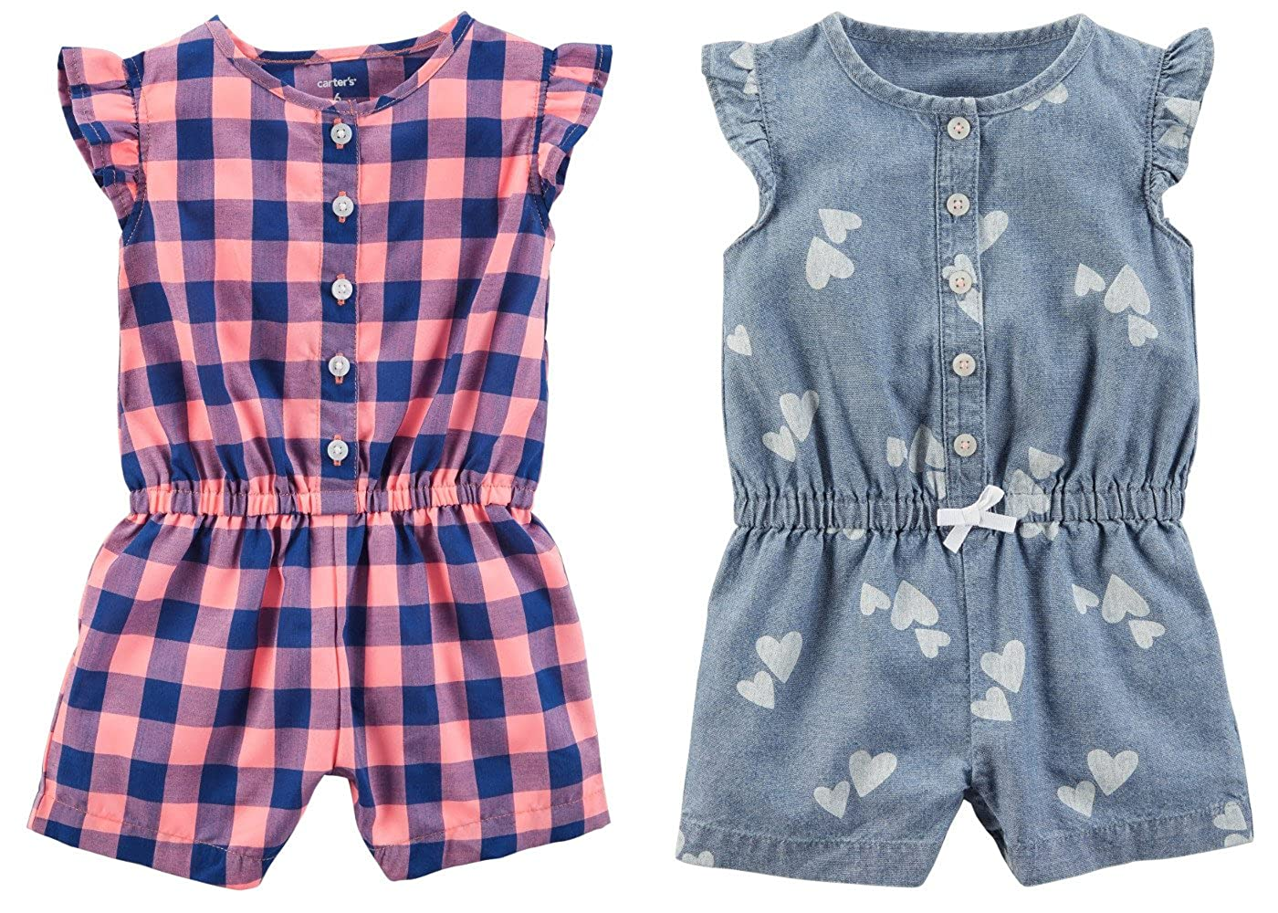 Carters Set of 2 Baby Girls Shorts Rompers