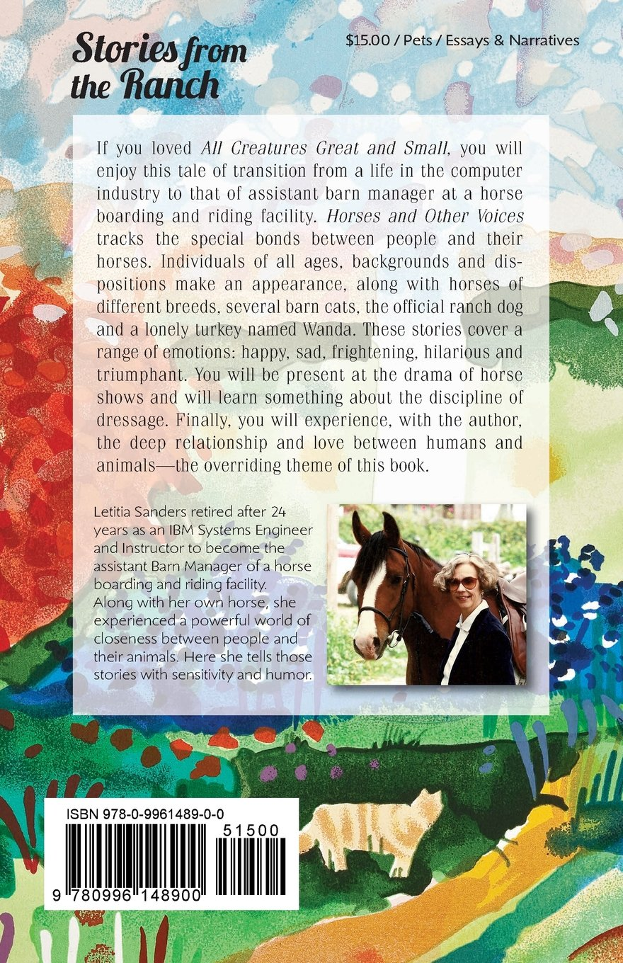 horses and other voices letitia sanders 9780996148900  horses and other voices letitia sanders 9780996148900 com books