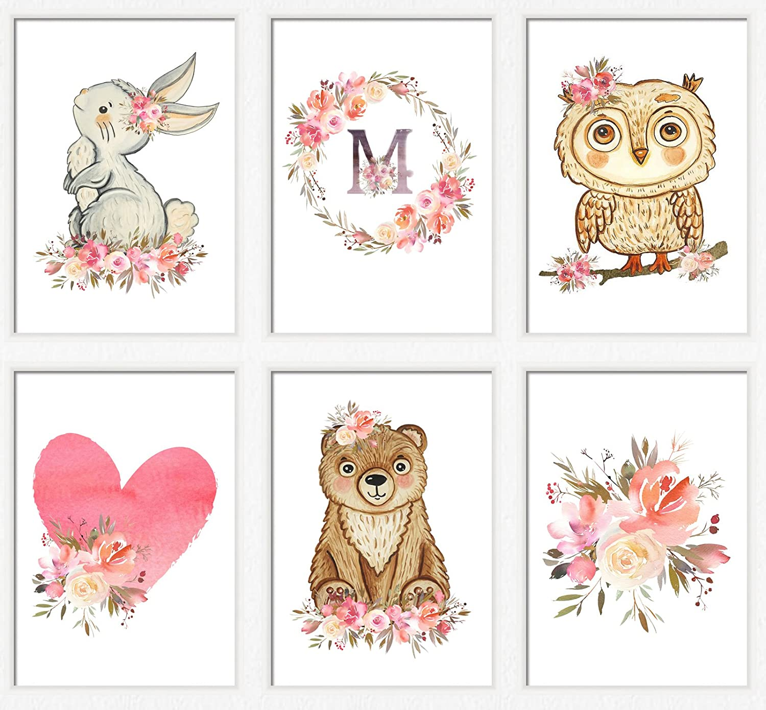 picture about Printable Woodland Animals identified as : Woodland nursery artwork lady Crimson woodland pets