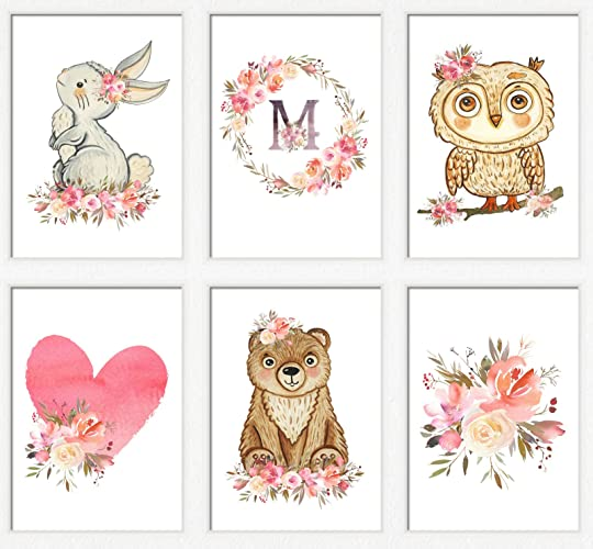 photo relating to Printable Prints titled : Woodland nursery artwork lady Red woodland pets