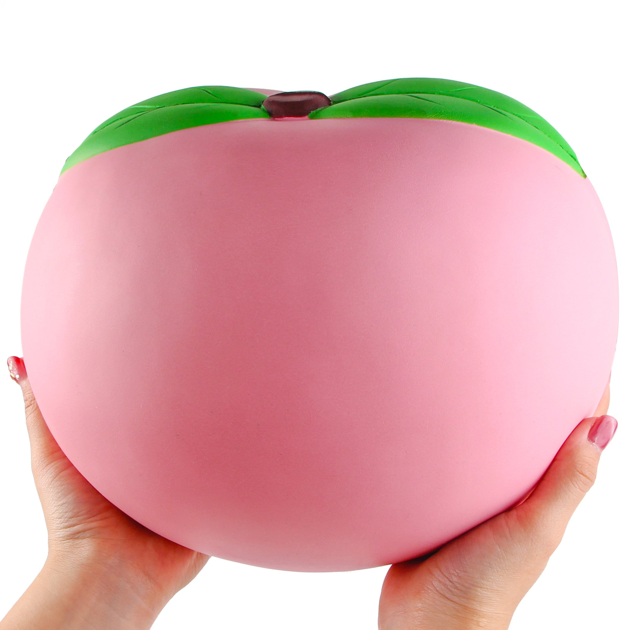 WATINC 10inch Jumbo Squishies, Large Peach Squishies, Birthday Gift for Kids, Giant Slow Rising Simulation Cute Fruit Squeeze Toy for Collection, Decorative Props, Stress Relief, Bonus Emoji squishies by WATINC (Image #3)