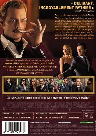 Charlie mortdecai [Francia] [DVD]: Amazon.es: Depp, Johnny ...