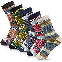 Women Casual Socks Novelty Gift Socks Vintage Soft Cute Patterened Crew Socks 5packs