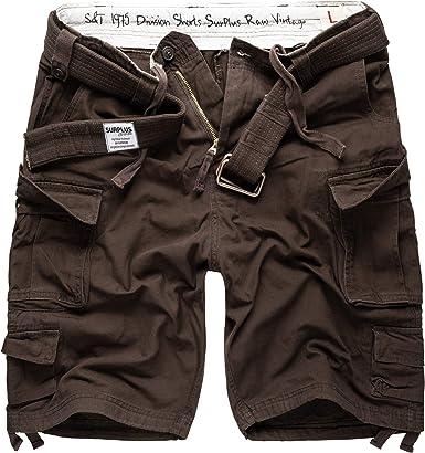TALLA M. Surplus Division Shorts Pantalón Corto para Hombre