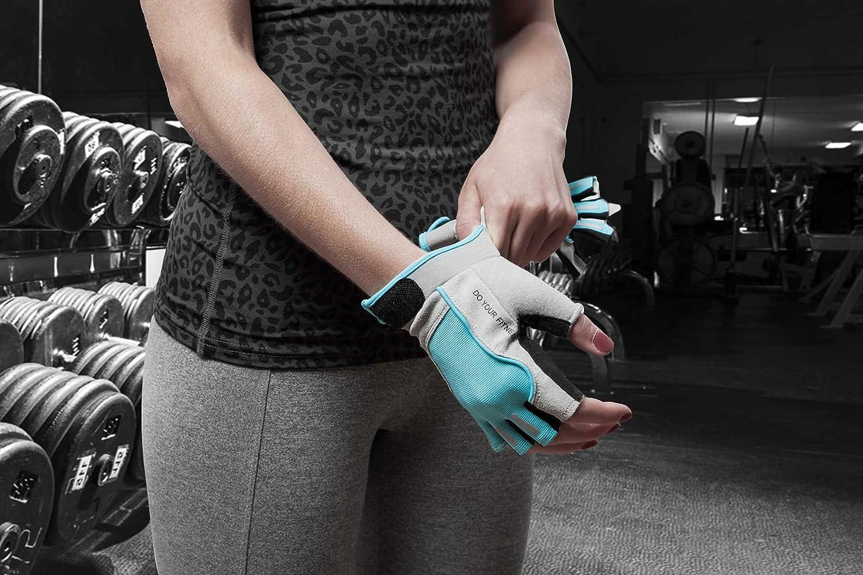 #DoYourFitness Fitnesshandschuhe /»Thalia/« // Idealer Trainingshandschuh//Workout Gewichtheben /& Bodybuilding//Small Medium Large//Farben: Schwarz//pink Kraftsport Schwarz//Gr/ün /& Schwarz//T/ürkis