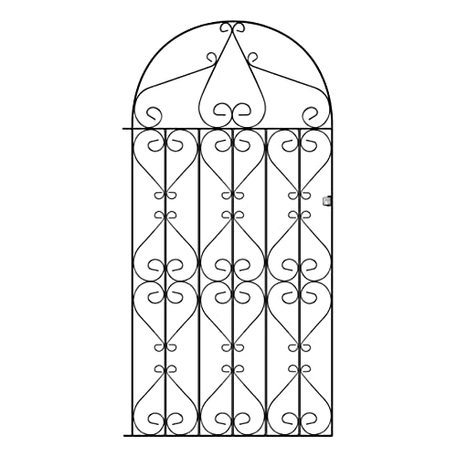 Regent Tall Metal Scroll Garden Gates 1067mm GAP X 1905mm High Wrought Iron  Swing Gate RB44