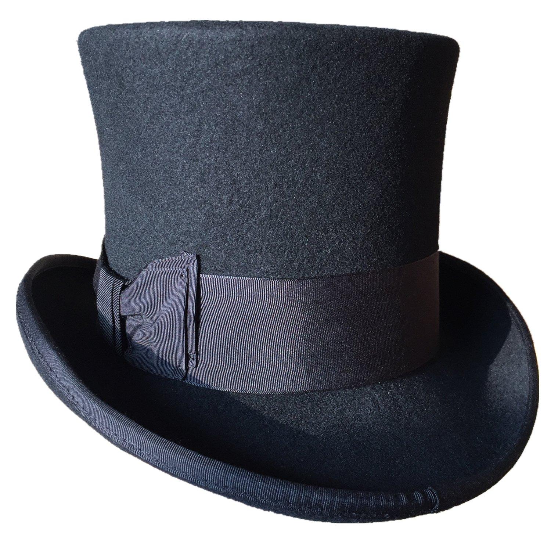 26112299db6 Black Wool Felt Top Hat Victorian Mad Hatter 7