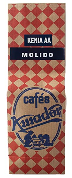 Café AMADOR - Especialidad - Kenia AA 100% Arábica - Tueste natural - Molido (