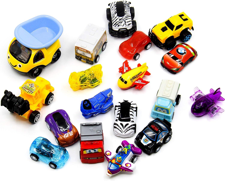 YAVO-EU 18 Pi/èces Miniature V/éhicule Mini Mod/èle de Voiture Petite Voiture Cars Jouets Enfant Garcon Fille 3 4 5 Ans Style al/éatoire