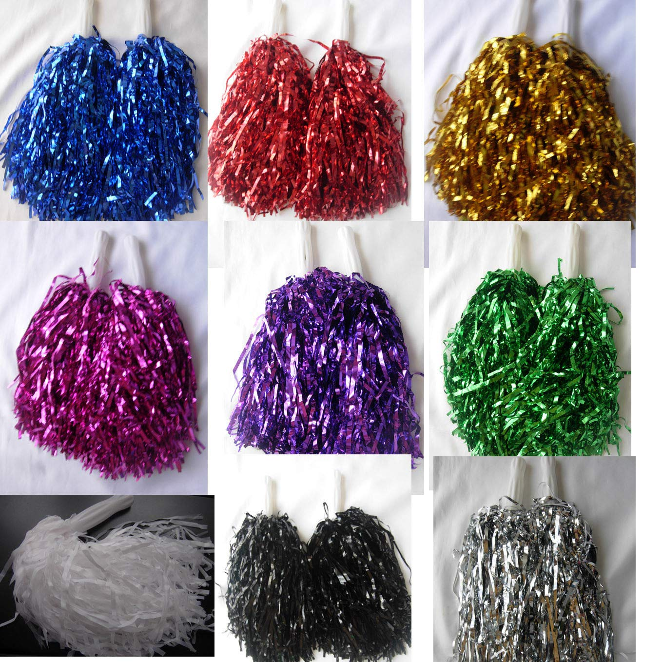 5 paires or Cheerleading Pom Pompons Hen Party Fancy Dress