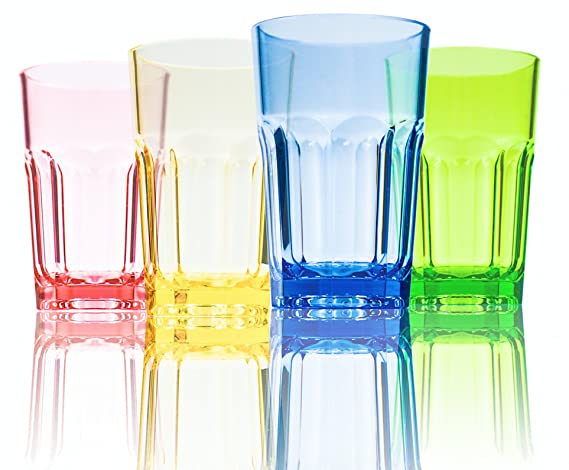 4a11334f8c8 290ml Colored Plastic Cups Tumblers Acrylic Water Drinking Glasses for  Kids: Amazon.co.uk: Kitchen & Home